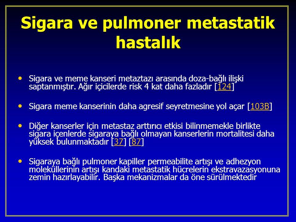 Sigara ve pulmoner metastatik hastalık