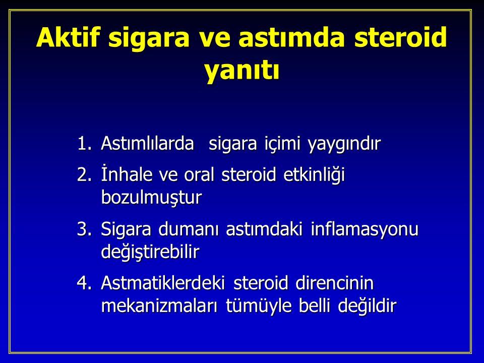 Aktif sigara ve astımda steroid yanıtı