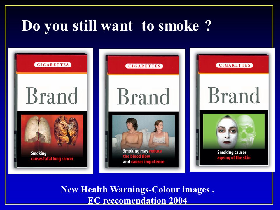 New Health Warnings-Colour images .