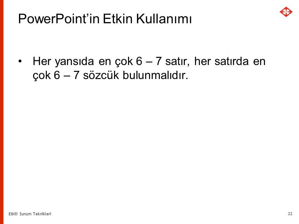 PowerPoint'in Etkin Kullanımı
