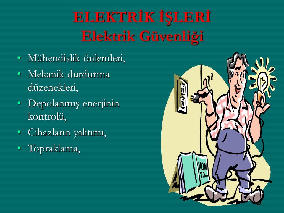 ELEKTRİK İŞLERİ Elektrik Güvenliği