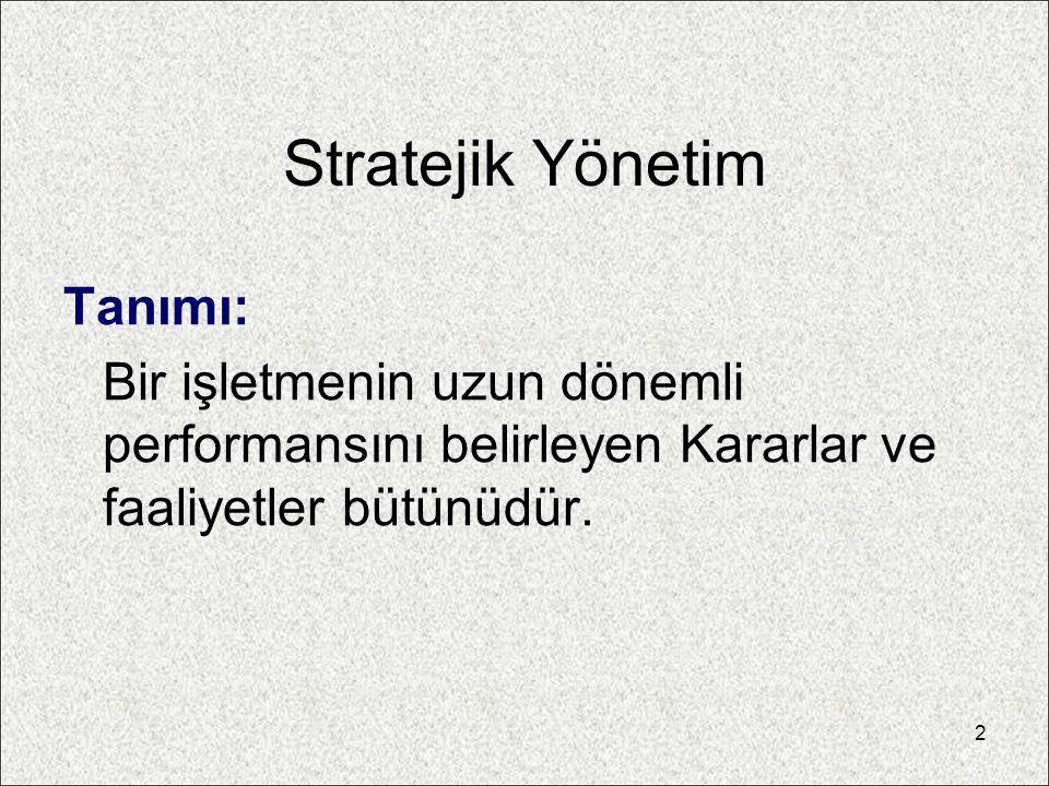Stratejik Yönetim Tanımı: