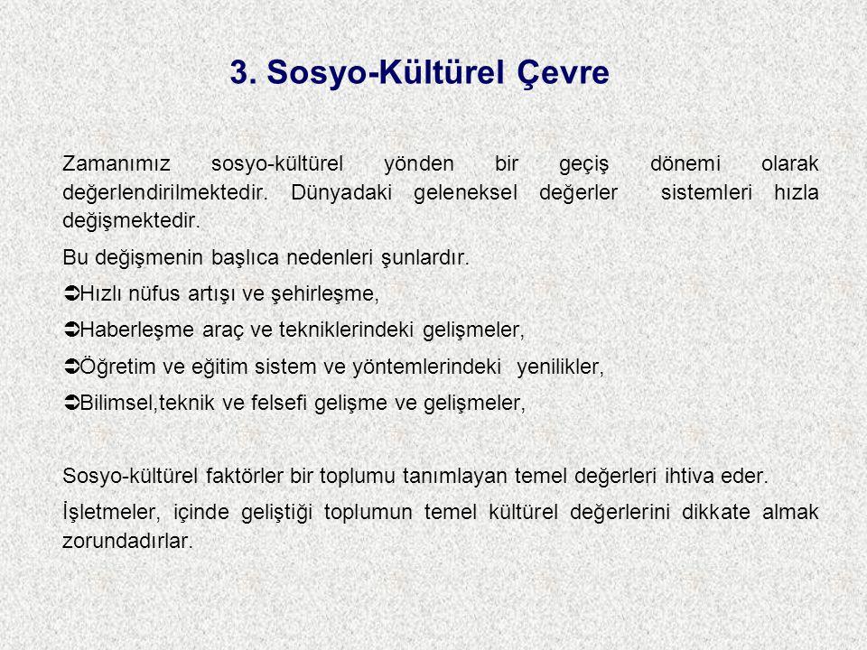 3. Sosyo-Kültürel Çevre