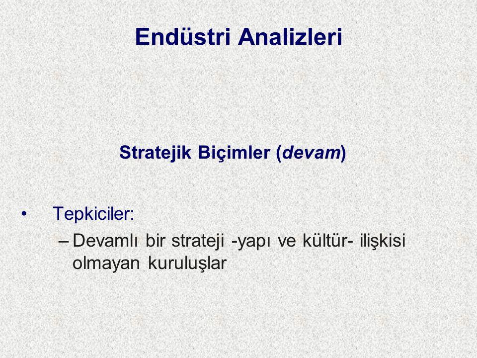 Stratejik Biçimler (devam)