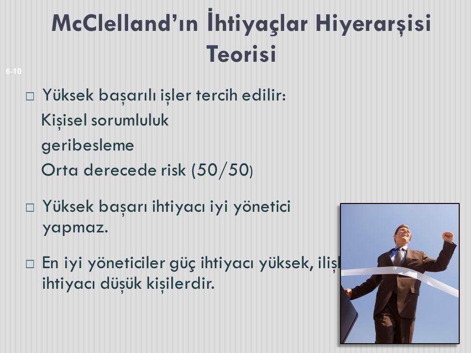 McClelland'ın İhtiyaçlar Hiyerarşisi Teorisi