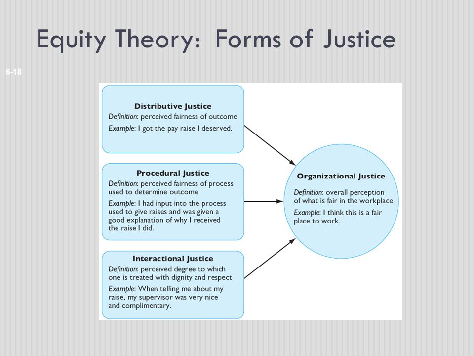 Equity Theory: Forms of Justice