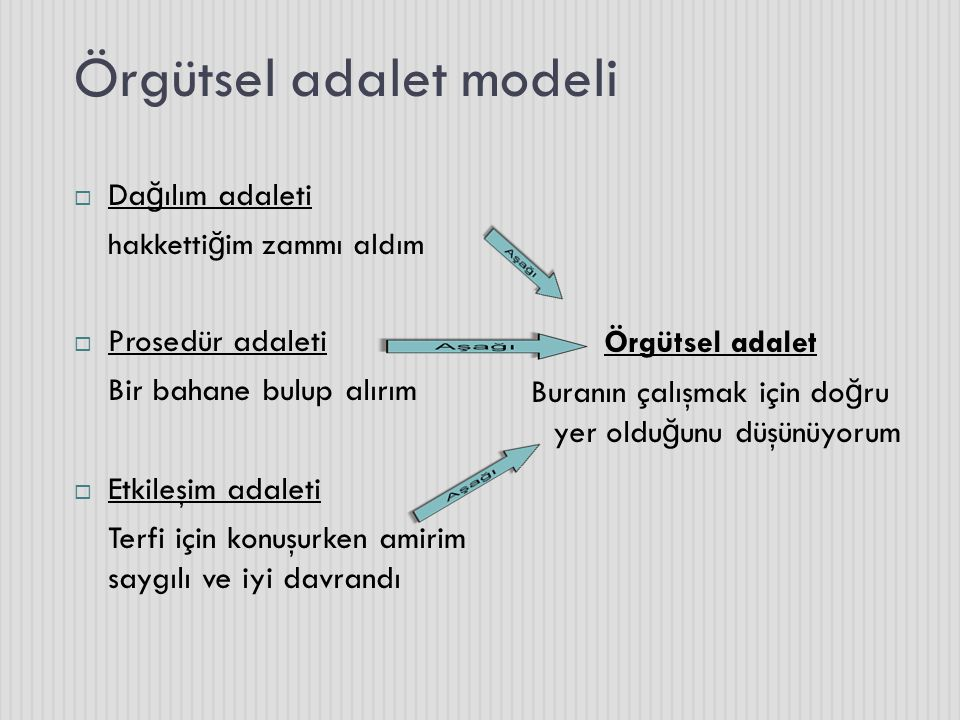 Örgütsel adalet modeli