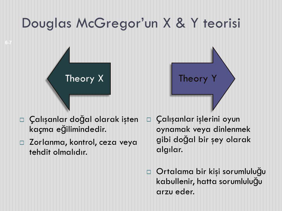 Douglas McGregor'un X & Y teorisi