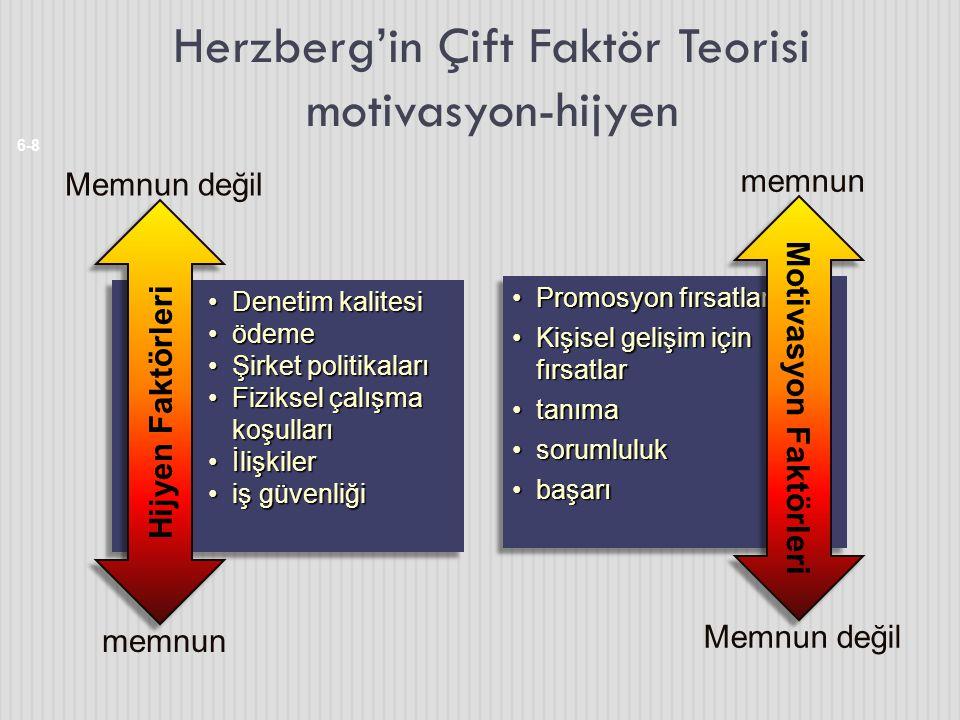 Herzberg'in Çift Faktör Teorisi motivasyon-hijyen