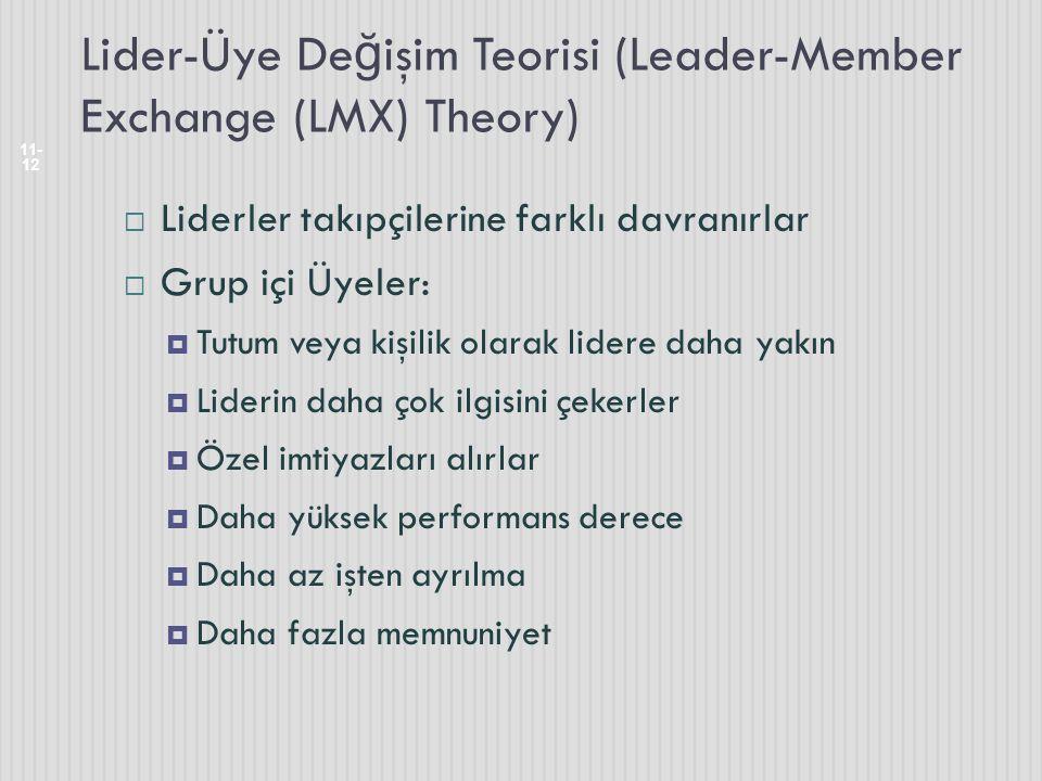 Lider-Üye Değişim Teorisi (Leader-Member Exchange (LMX) Theory)