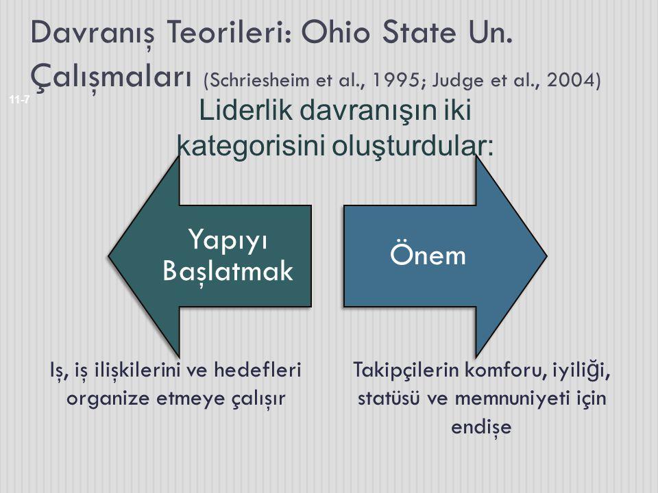 Davranış Teorileri: Ohio State Un. Çalışmaları (Schriesheim et al