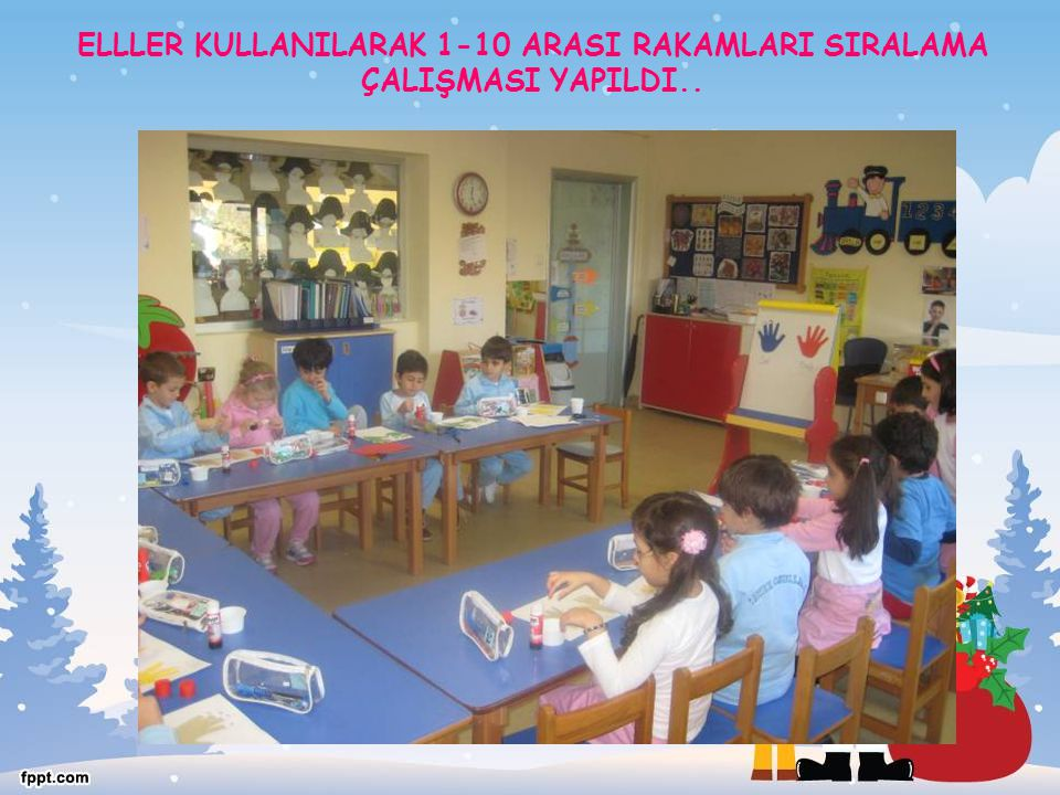 ELLLER KULLANILARAK 1-10 ARASI RAKAMLARI SIRALAMA