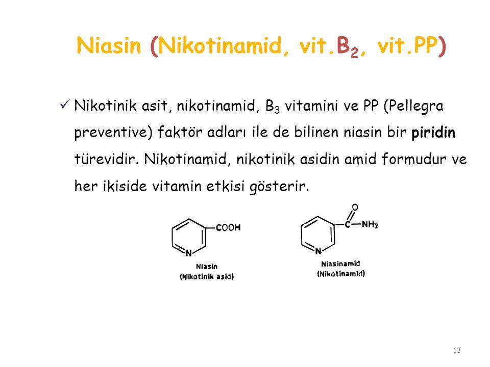 Niasin (Nikotinamid, vit.B2, vit.PP)