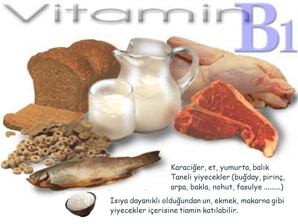 Karaciğer, et, yumurta, balık