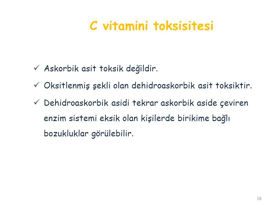 C vitamini toksisitesi