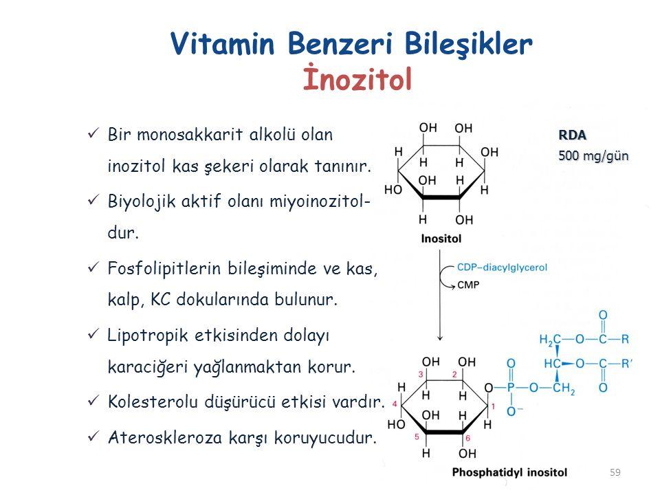 Vitamin Benzeri Bileşikler İnozitol