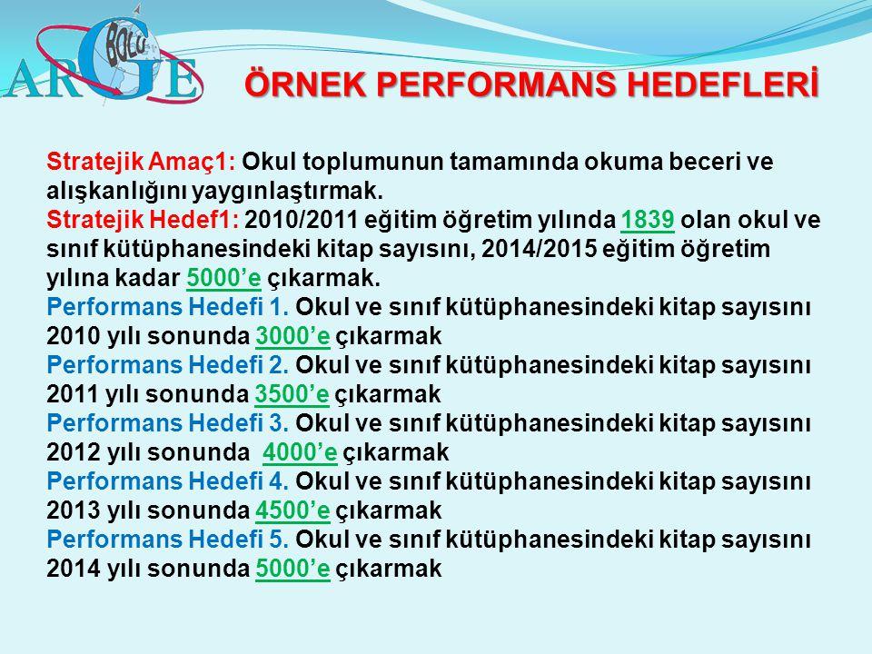 ÖRNEK PERFORMANS HEDEFLERİ