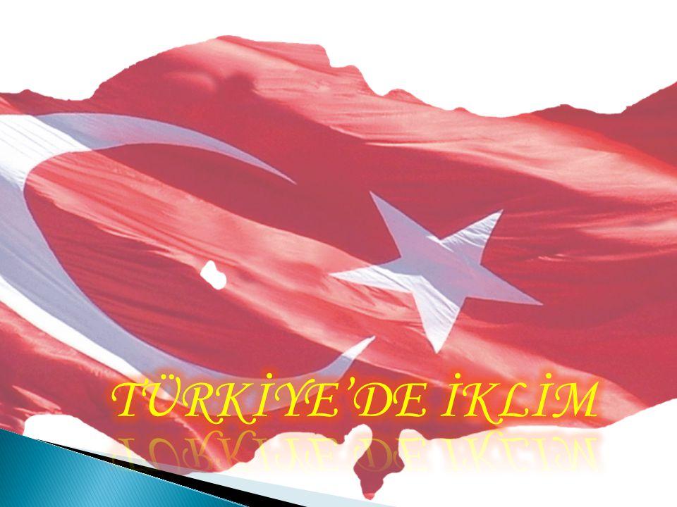 TÜRKİYE'DE İKLİM