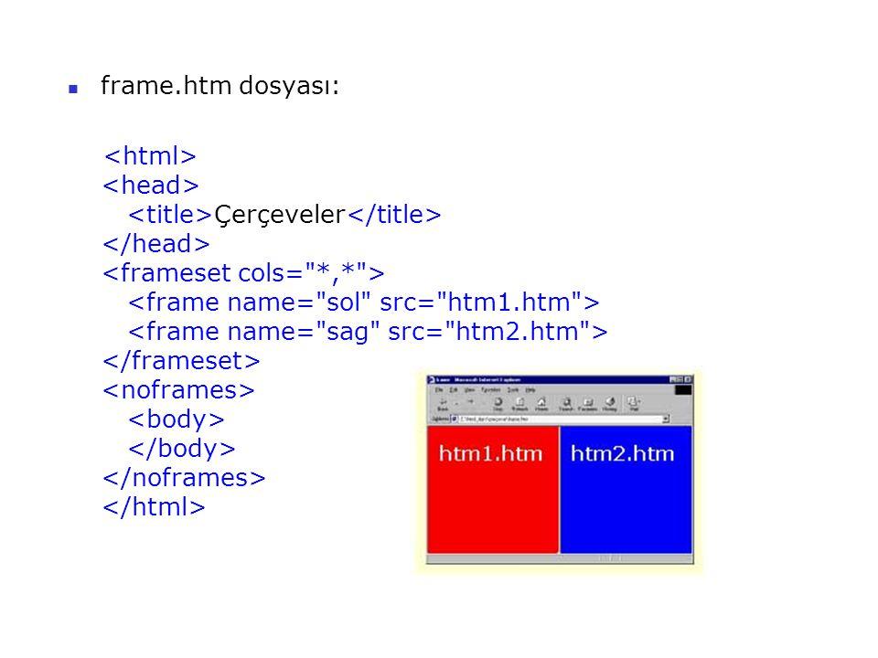 frame.htm dosyası: