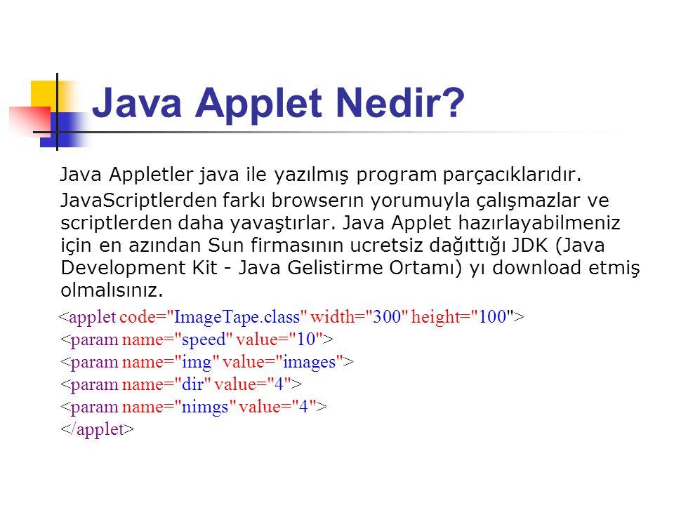Java Applet Nedir