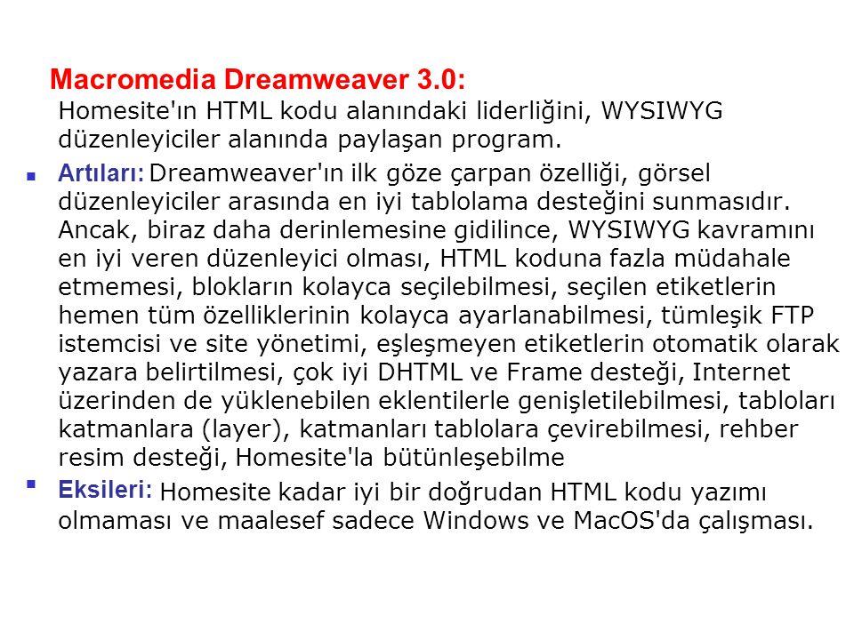 Macromedia Dreamweaver 3