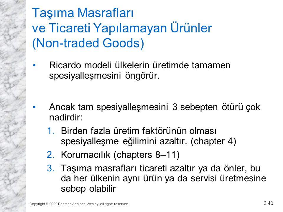 Taşıma Masrafları ve Ticareti Yapılamayan Ürünler (Non-traded Goods)