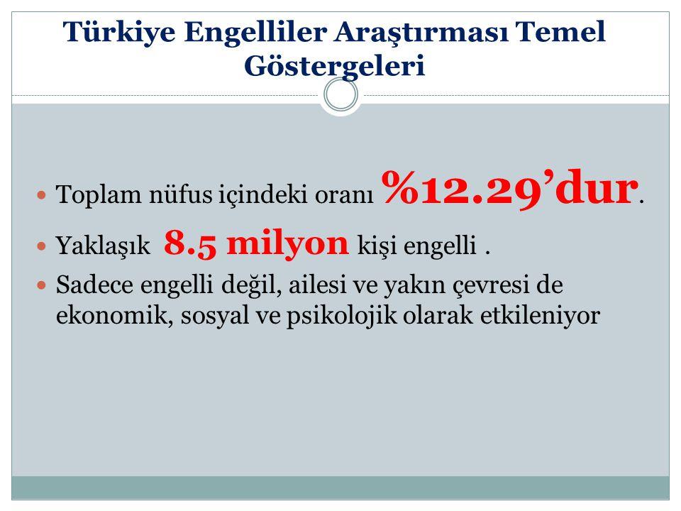 Türkiye Engelliler Araştırması Temel Göstergeleri