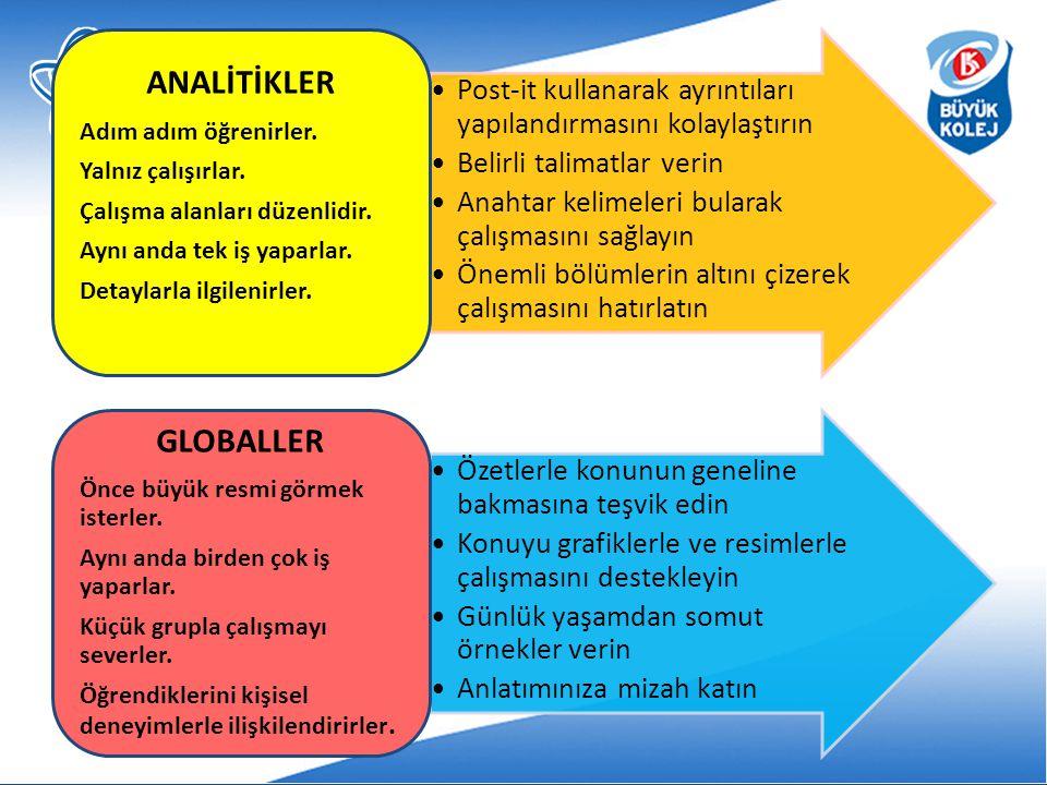 ANALİTİKLER GLOBALLER