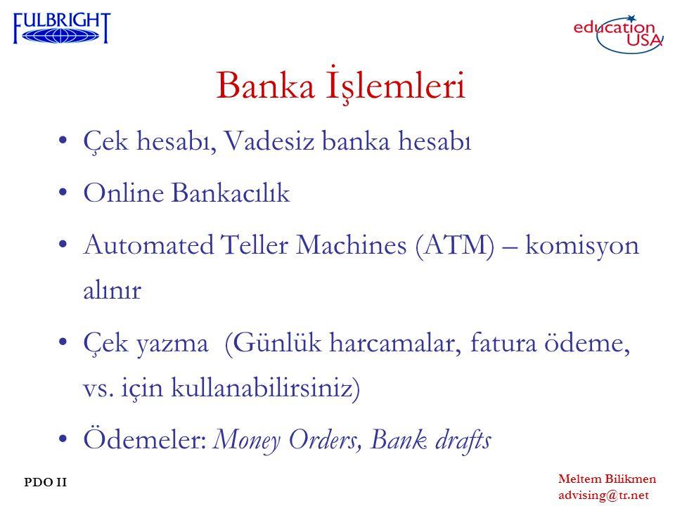 Banka İşlemleri Çek hesabı, Vadesiz banka hesabı Online Bankacılık