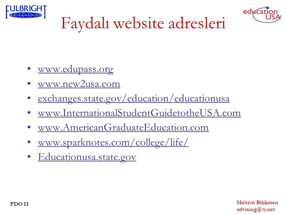 Faydalı website adresleri