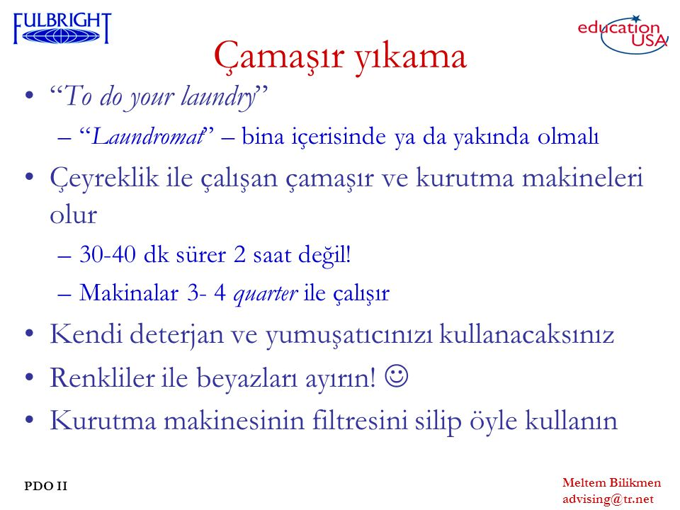 Çamaşır yıkama To do your laundry