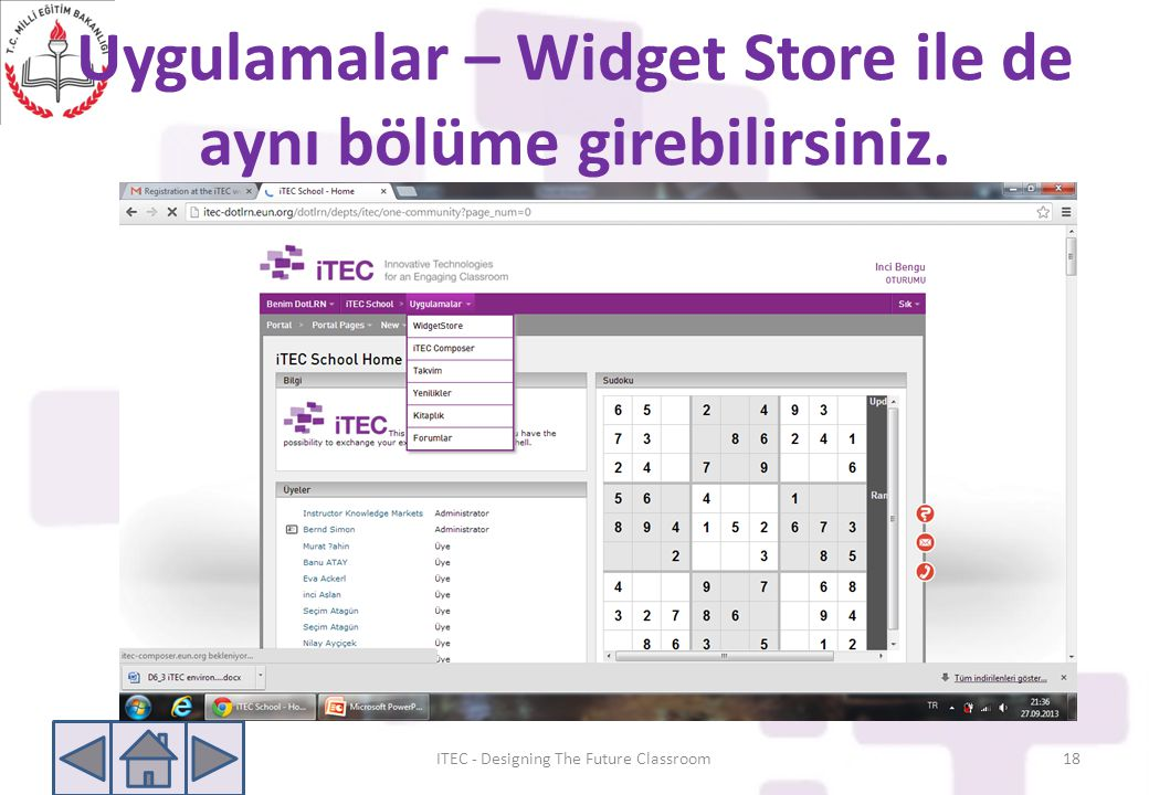 Uygulamalar – Widget Store ile de aynı bölüme girebilirsiniz.
