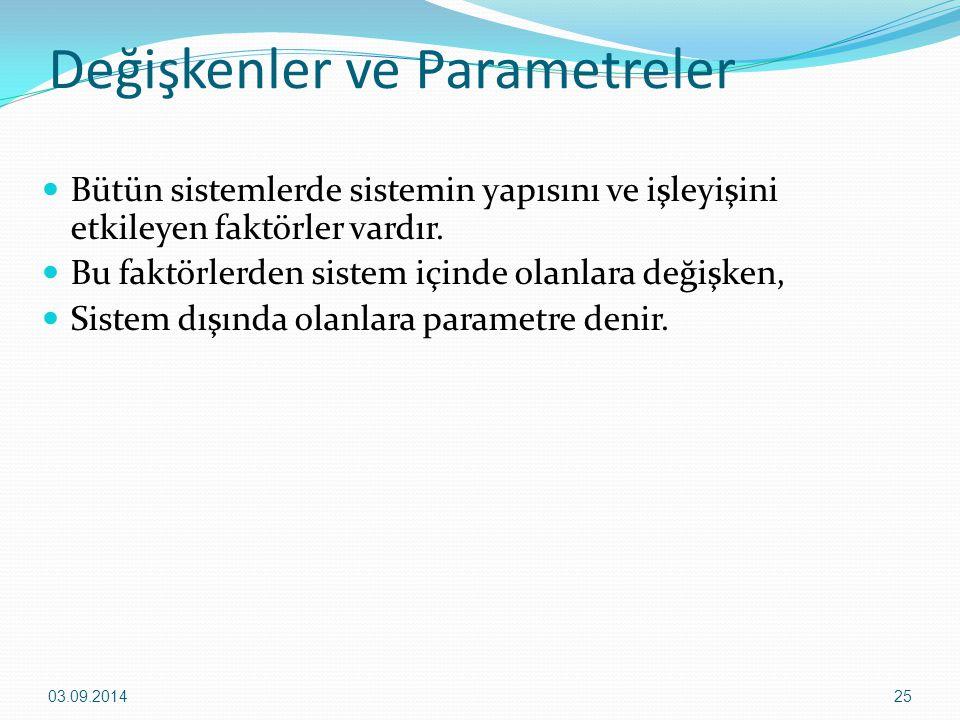 Değişkenler ve Parametreler