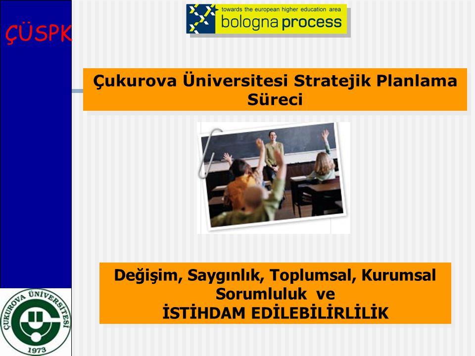 Çukurova Üniversitesi Stratejik Planlama Süreci