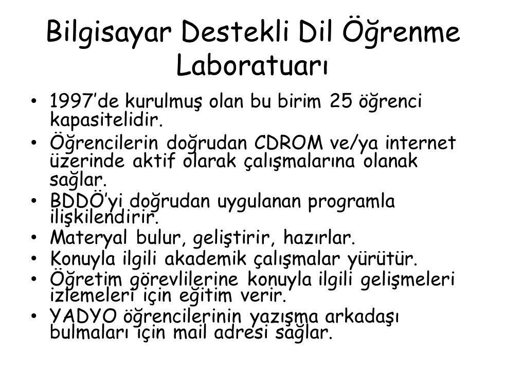 Bilgisayar Destekli Dil Öğrenme Laboratuarı