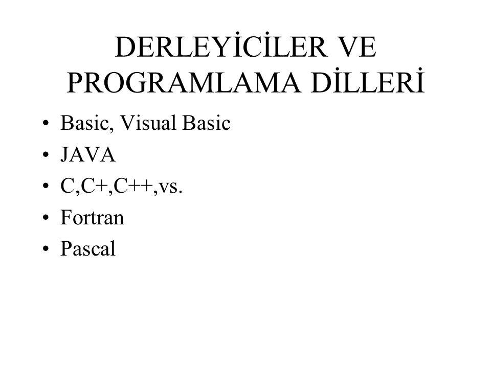 DERLEYİCİLER VE PROGRAMLAMA DİLLERİ