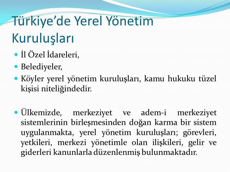 Türkiye'de Yerel Yönetim Kuruluşları
