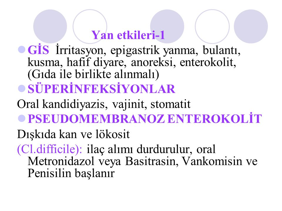 Oral kandidiyazis, vajinit, stomatit PSEUDOMEMBRANOZ ENTEROKOLİT