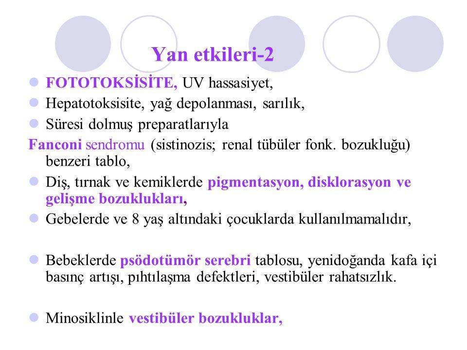 Yan etkileri-2 FOTOTOKSİSİTE, UV hassasiyet,