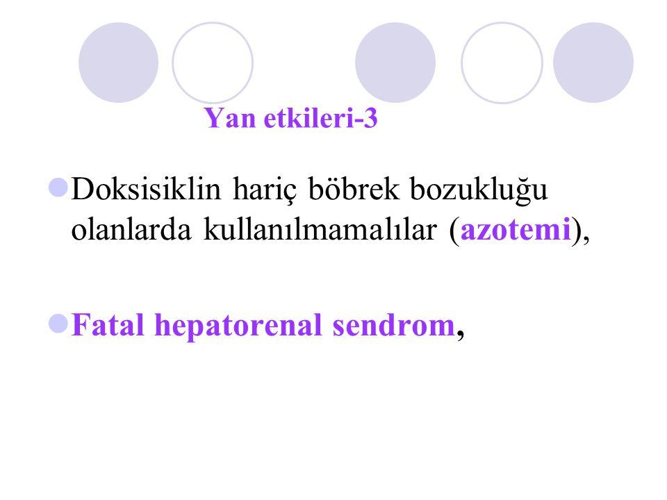 Fatal hepatorenal sendrom,