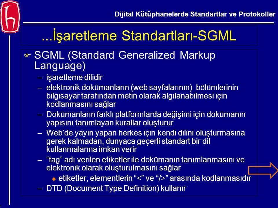 ...İşaretleme Standartları-SGML