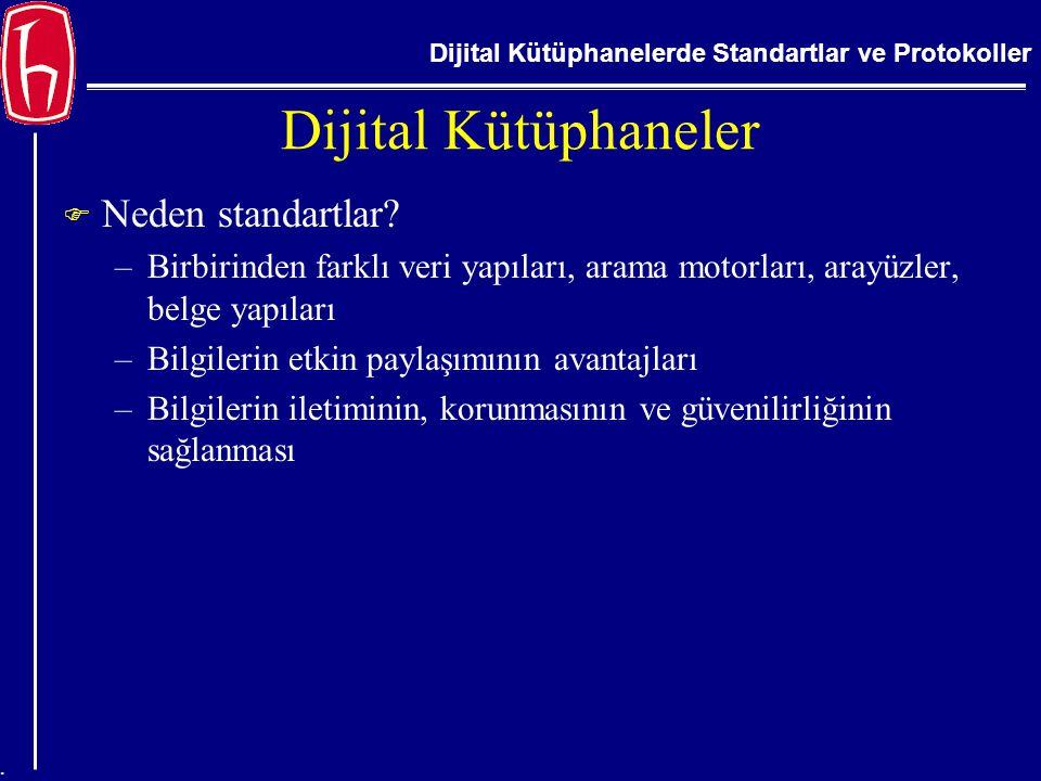 Dijital Kütüphaneler Neden standartlar