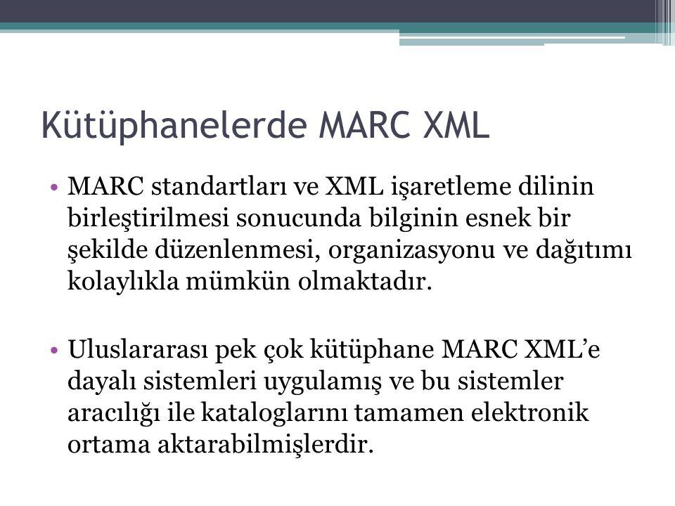 Kütüphanelerde MARC XML