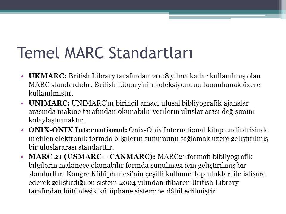 Temel MARC Standartları