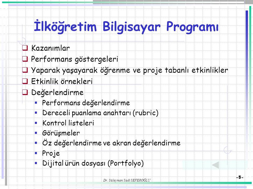 İlköğretim Bilgisayar Programı