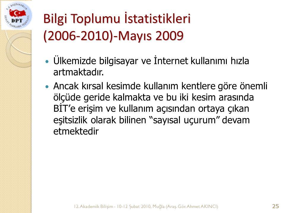 Bilgi Toplumu İstatistikleri (2006-2010)-Mayıs 2009