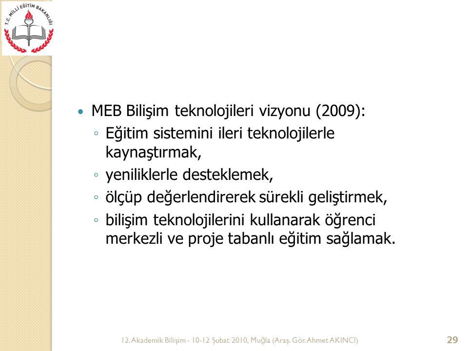 MEB Bilişim teknolojileri vizyonu (2009):