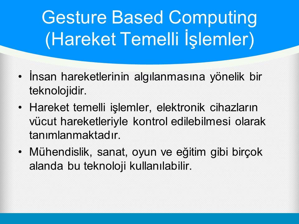 Gesture Based Computing (Hareket Temelli İşlemler)
