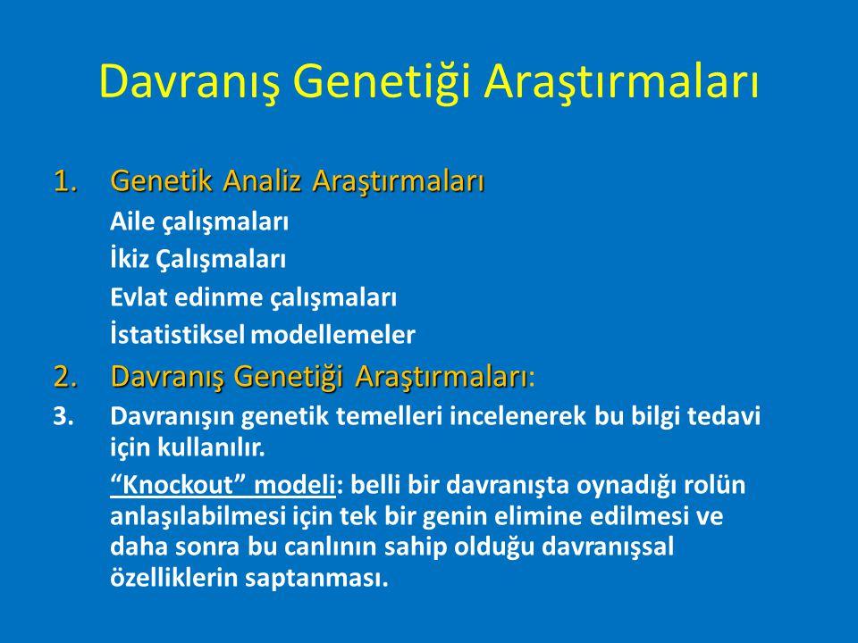 Davranış Genetiği Araştırmaları
