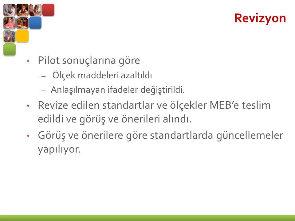 Revizyon Pilot sonuçlarına göre